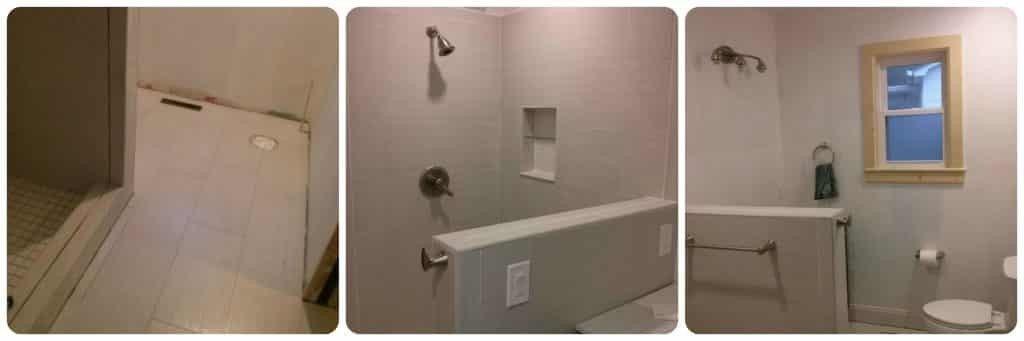 Smart Master Bath Tallahassee - Tile Installed