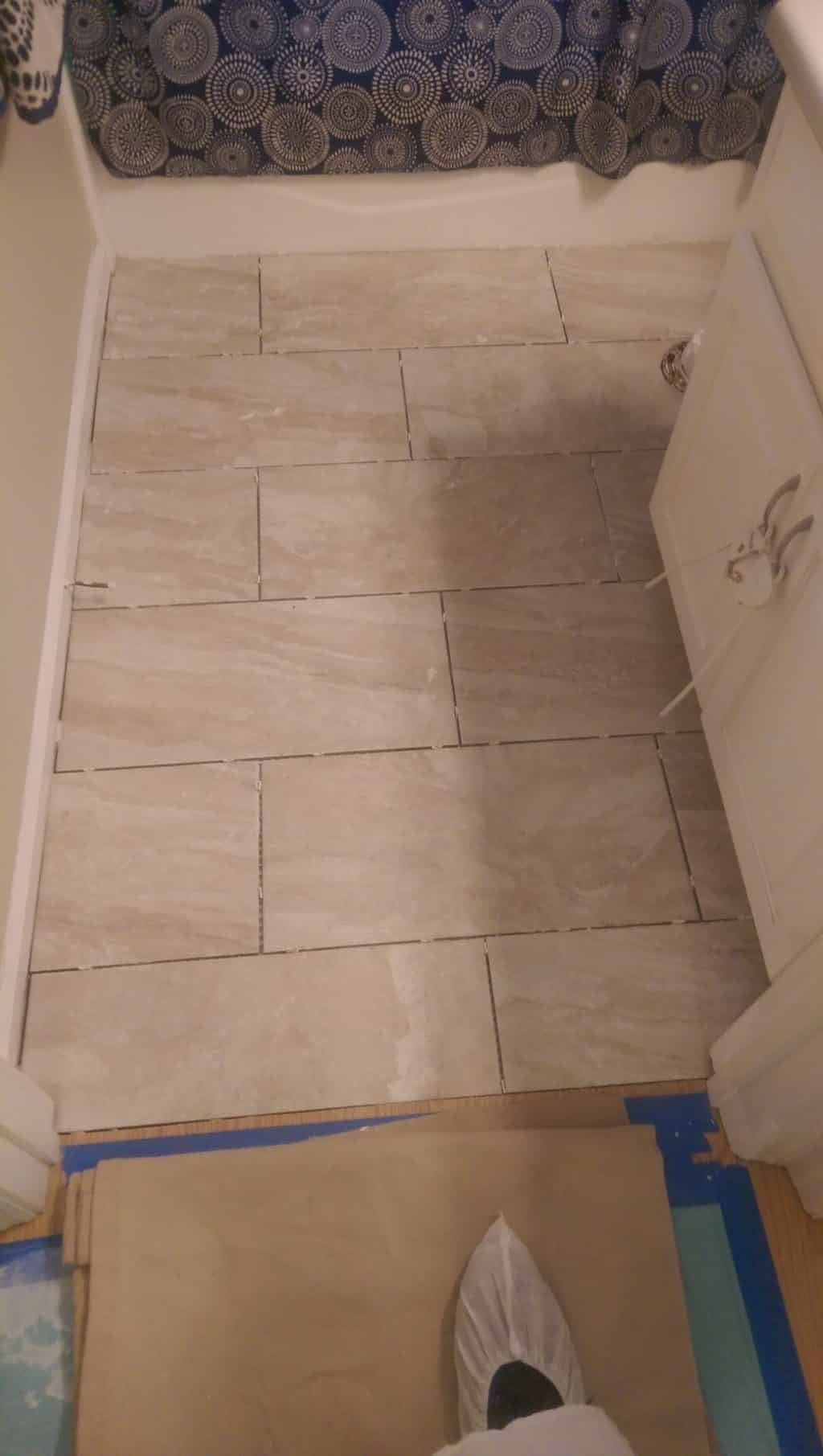 Replacing Floor Tile In A Tallahassee Master And Hall Bath