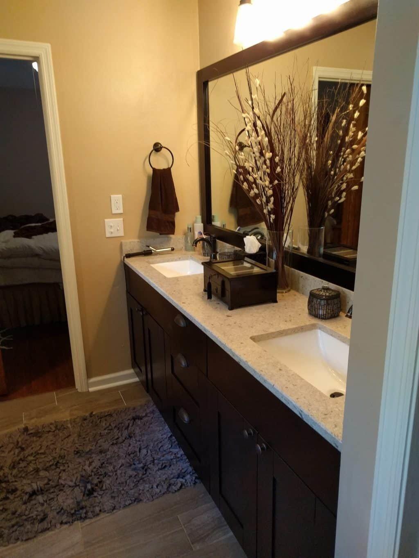 Master Bath Vanity, Espresso color, shaker style