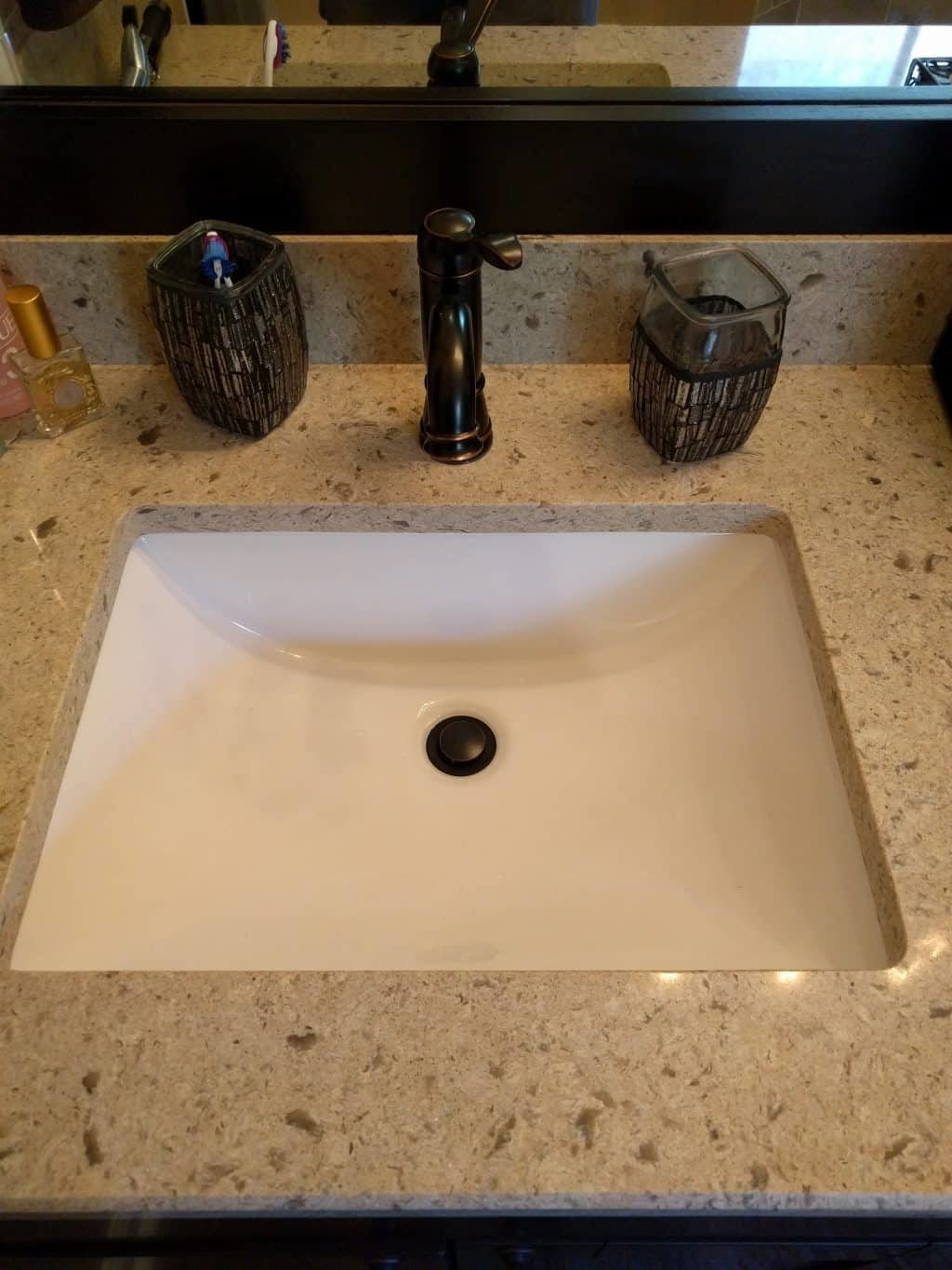 Quartz Top with Undermount Sink, Delta Faucet