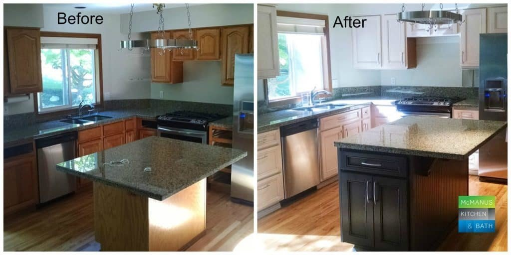 Cabinet Refacing Before After Tallahassee McManus Kitchen and Bath