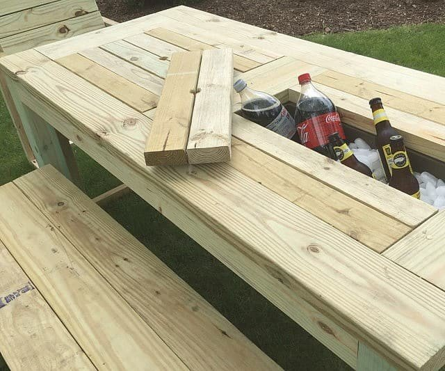 Outdoor kitchen prep table