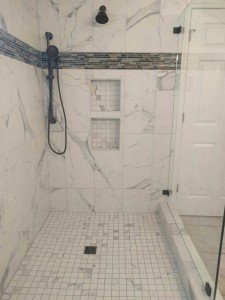 Marble Shower with Rain Head