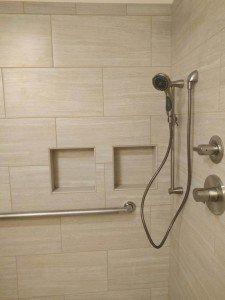 Recessed shower niche
