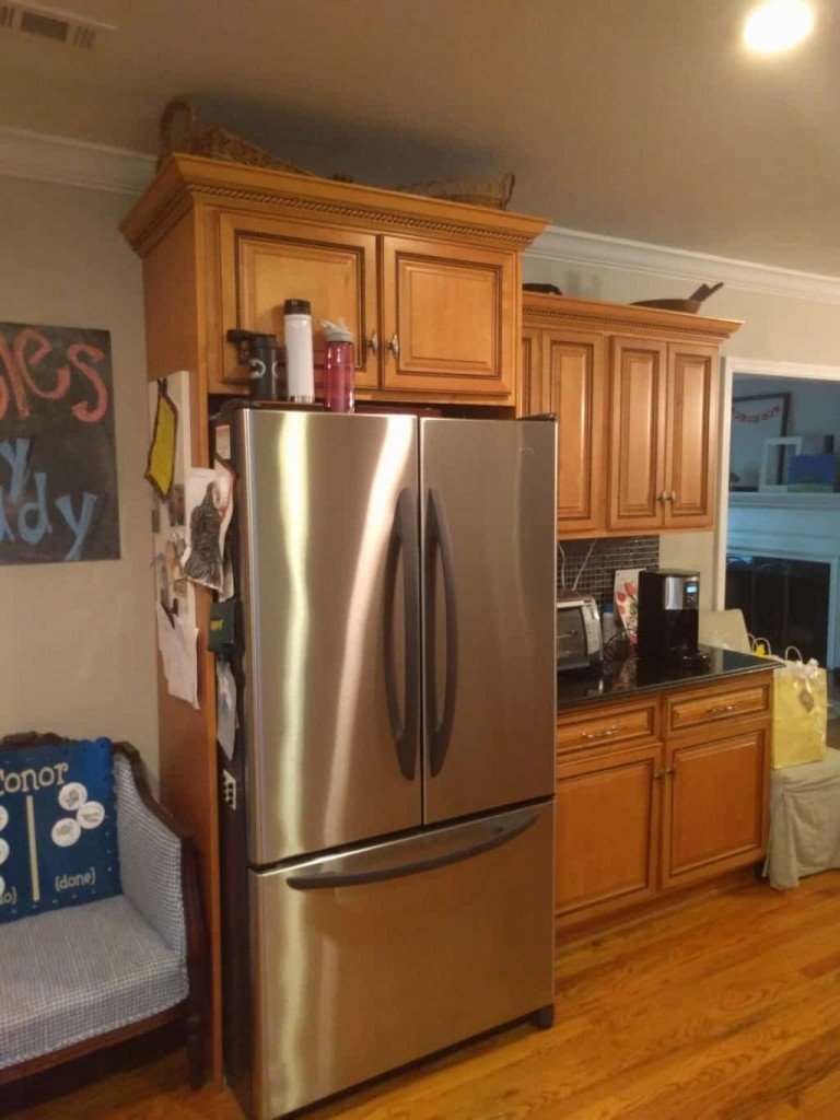 White Shaker Kitchen Cabinet Refacing Before