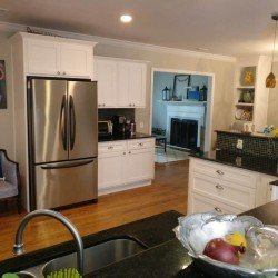 White Shaker Kitchen Cabinet refacing Tallahassee