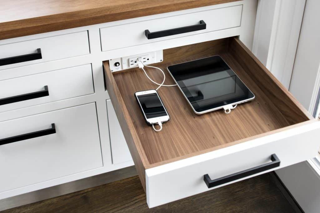 Kitchen remodel docking drawer