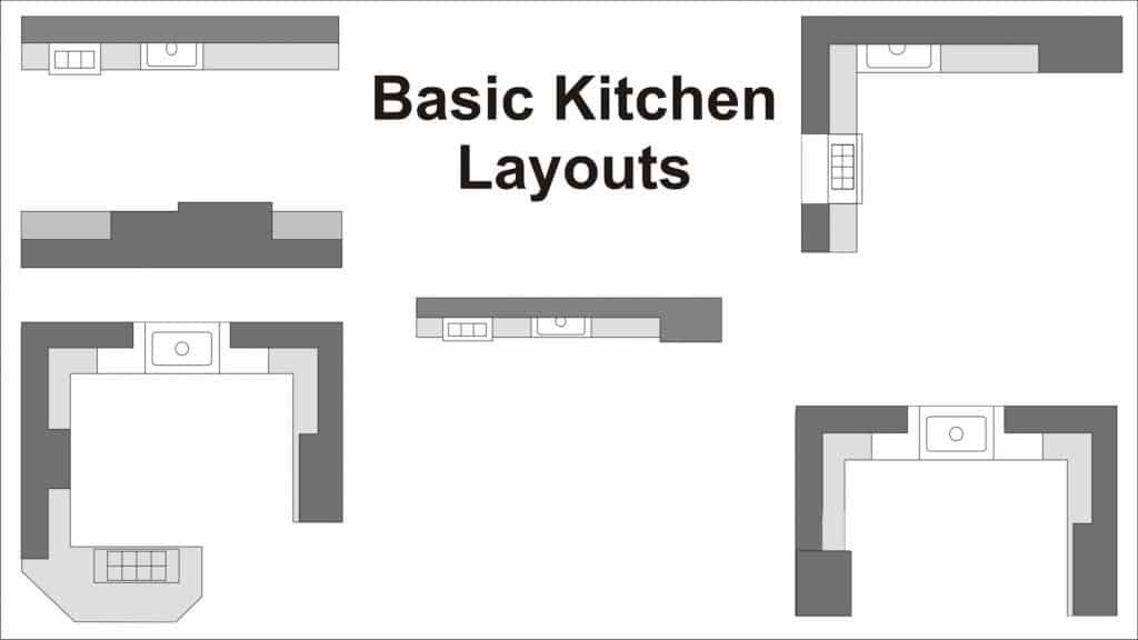 48 Kitchen Cabinet Layouts And How To Maximize Cabinet Storage Best Basic Kitchen Design Layouts