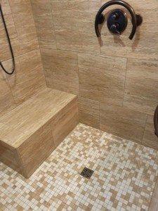 tile shower seat
