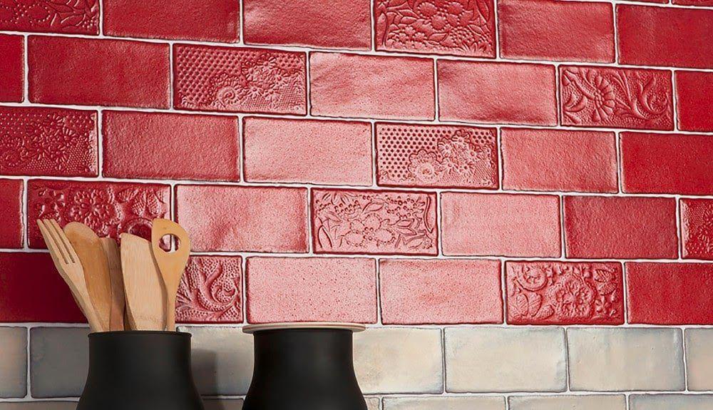 Red Backsplash tile