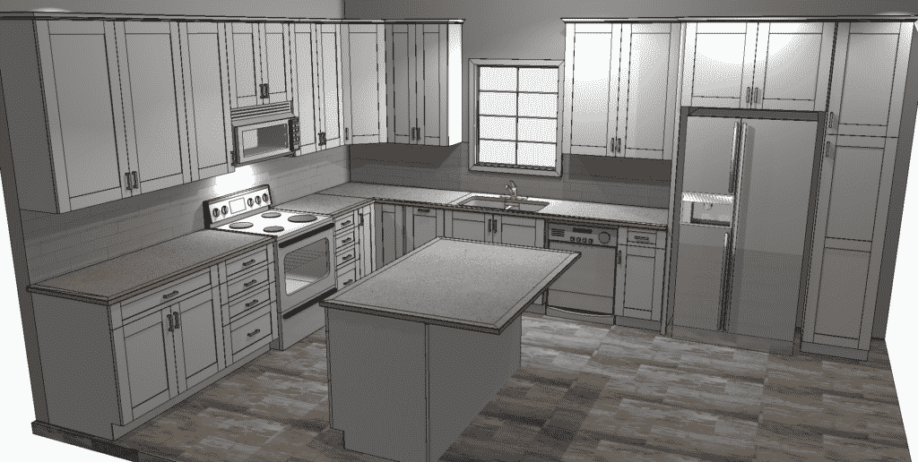 Kitchen Remodeling Costs in Tallahassee Medium Sized Kitchen