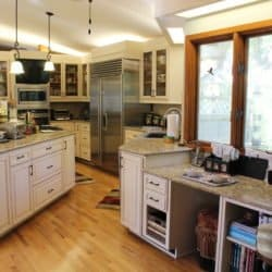 Large kitchen cabinet reface