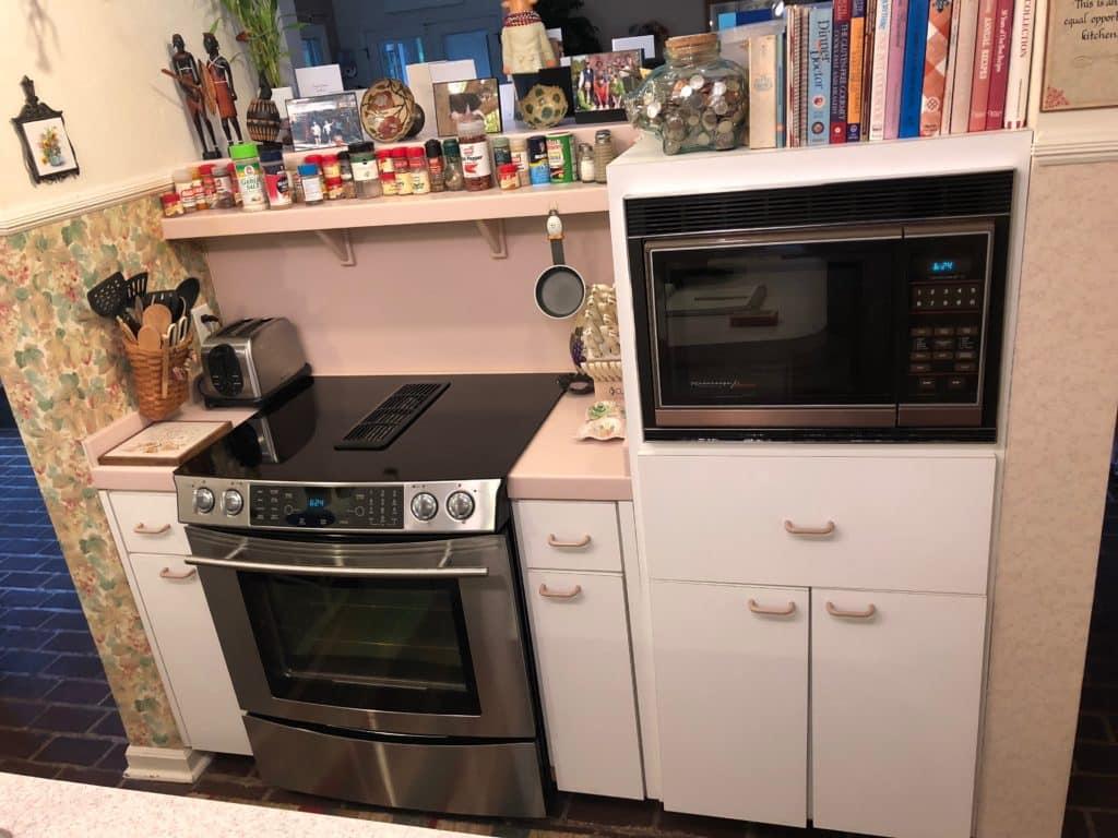 kitchen appliances Cabinet reface before
