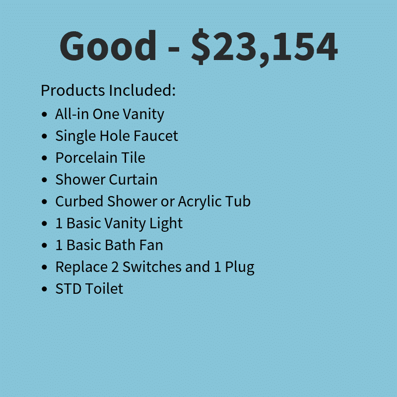 Small bath remodeling costs - good