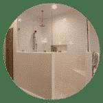 Bath remodel barrier free shower