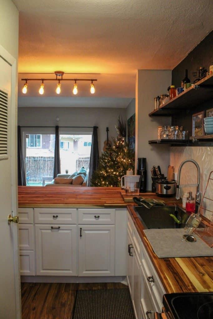 Kitchen remodel butcher block countertops