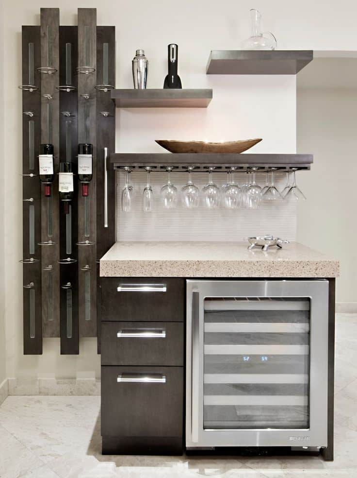 kitchen storage MCMANUS KITCHEN AND BATH KITCHEN REMODELING WET BAR