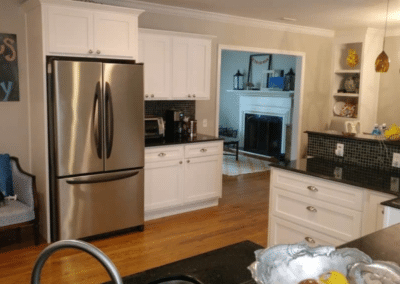 Cabinet Refacing Project – White Shaker Kitchen with a Drawer Conversion – $11,500