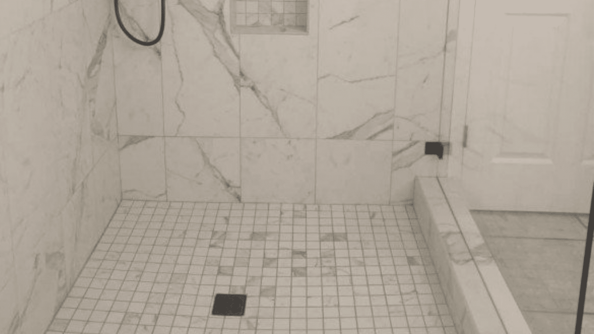 Installing A Marble Walk In Shower For A Tallahassee Remodel Mcmanus Kitchen And Bath